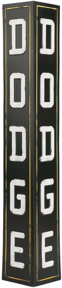 Open Road Brands Dodge Angled & Embossed Metal Sign