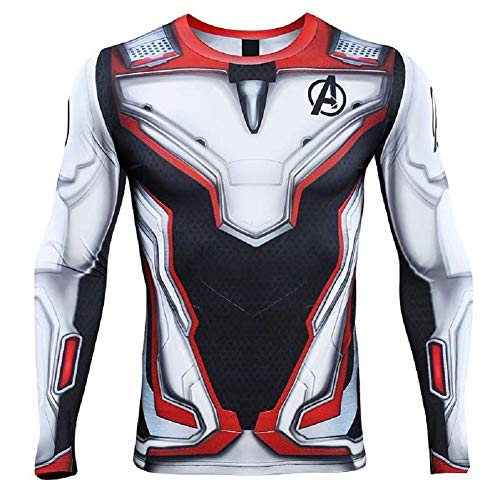 Cosfunmax Superhero AE Cosplay Compression Sports Shirt 3D Tight Quick Dry Base Layer ()