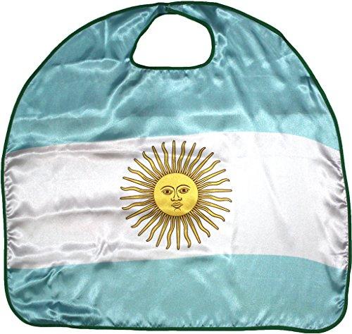 Petitebella National Theme Satin Cape Unisex Clothing Costume Accessory 3-8y (Argentina, One Size) ()