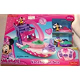 Disney Minnie Mouse Vacation at Sea Boat Playset with Minnie Daisy and 2 Jet Skiis
