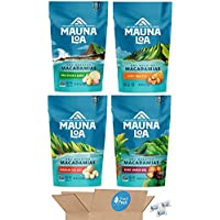 Mauna Loa Macadamia Nuts Snack Peak Variety Gift Box – Hawaiian Sea Salt, Maui Onion and Garlic, Honey Roasted, and…