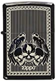 Zippo Slim Winged Skulls Lighter, Ebony