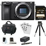 Sony a6500 Mirrorless Digital Camera w/ Gadget Bag & 16GB SDHC Accessory Bundle