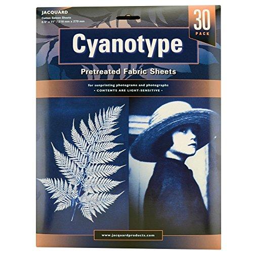 Jacquard Cyanotype Pretreat Fabric Sheets 30-Pack 8.5