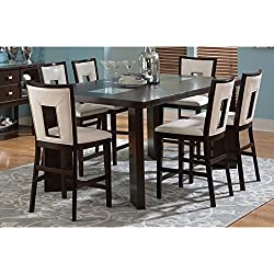 Greyson Living Domino Counter-height Espresso Dining Set 7-Piece Sets