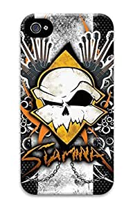 Case For Iphone 5/5S Cover Cool Skull 04 Pattern Hard Back Skin For