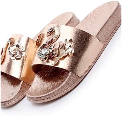 womens glitter slide sandals
