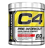Cellucor C4 Pre Workout Supplements with Creatine, Nitric Oxide, Beta Alanine and Energy, 60 Servings, Fruit Punch, 13.75 Oz (390 g)