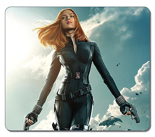 Customized Fashion Style Textured Surface Water Resistent Mousepad Black Widow In Captain America The Winter Soldier Non-Slip Best Large Gaming Mouse (Captain America The Winter Soldier Online)
