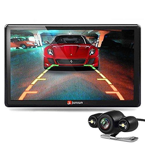 junsun 7 inch Car GPS Navigation Bluetooth 8GB with Rear