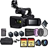 Canon XA50 Professional UHD 4K Camcorder 3669C002 Bundle with 2X Spare Batteries + 2X 32GB Memory Cards + Carrying Case + Filter Kit+ More