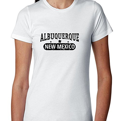 Hollywood Thread Trendy Albuquerque, New Mexico With Stars Women's Cotton T-Shirt]()