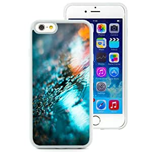 Fashionable And Unique Designed Cover Case For iPhone 6 4.7 Inch TPU With City Lights Reflected In Rain Puddle_White Phone Case