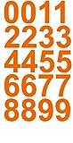 Sheet of 4 Inch (Orange) Vinyl Custom Street Address Mailbox Number Decal Stickers Kit