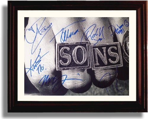 Framed Cast of Sons of Anarchy Autograph Replica Print - Sons Of Anarchy