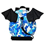 E'Plaza New Bat Walking Safety Harness Reins Toddler Strap Bag Red for Kids Children (blue camouflage)