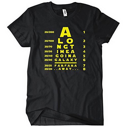 A Galaxy Far Far Away Eye Chart T-Shirt Funny Adult Mens Cotton Tee Sizes S-5XL