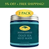 (2 Pack) Dead Sea Mud Mask for Face and Body – 100% Natural Spa Quality – Perfect Pore Minimizer, Deep Skin Cleanser, Reduces Acne, Blackheads and Oiliness for a Tighter Skin and Healthier Complexion For Sale