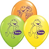 """Single Source Party Suppies - 11"""" Barney Assortment Latex Balloons - Bag of 10"""