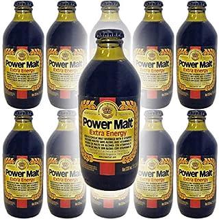 Power Malt, Extra Energy, Non-Alcoholic Malt Beverage, 11oz Glass Bottle (Pack of 10, Total of 110 Fl Oz)
