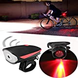 DatC - Bicycle Lights - XANES Waterproof Super Bright B Rechargeable LED Bike Light Headlight Horn and Taillight Set - 1PCs