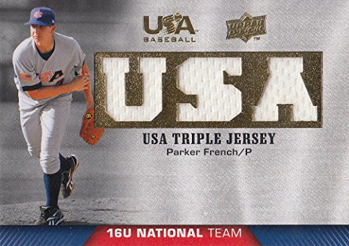 2009-10 USA Baseball 16U National Team Jerseys #PF Parker French Jersey - NM-MT