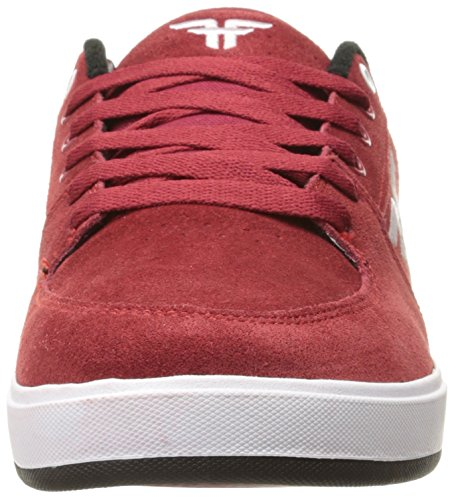 Der Patriot-Skateboard-Schuh der gefallenen Männer Oxblood / Weiß