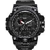 Zantec Sport-Uhr für Herren, multifunktionelle, digitale Armbanduhr, als Geschenk zu Weihnachten oder einem Geburtstag., schwarz