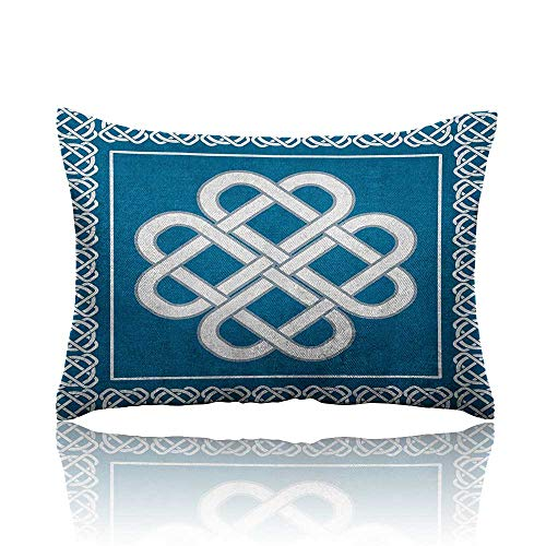 Irish Pillowcase Celtic Love Knot Good Fortune Symbol Framework Border Historical Amulet Design Travel Pillowcase 18