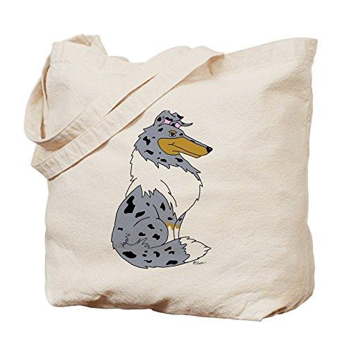 CafePress–Blue Merle Rough Collie–Borsa di tela naturale, panno borsa per la spesa