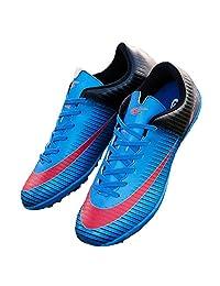 Kids Turf TF Soccer Shoes Indoor Football Training Fusal Shoes Blue 32726-Lan-1.5US/32