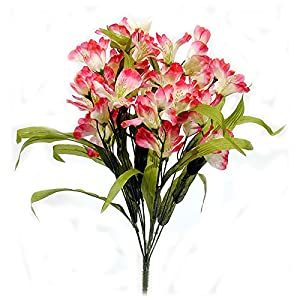 Artificial Alstroemeria Flower Bush - Pink Beauty 87