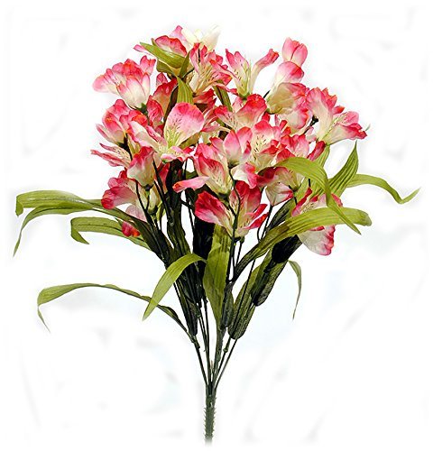 Artificial Alstroemeria Flower Bush - Pink Beauty (Alstroemeria Flowers)