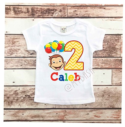 Personalize George Birthday T-Shirt - Birthday Outfit - w/Name & Age]()