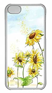 Apple iPhone 5C Case - Beautiful Sunflower 3 Funny Lovely Best Cool Customize iPhone 5C Cover by supermalls