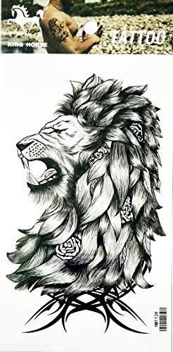 NipitShop 1 Sheet King Lion Lion Forest Animal Fantasy Temporary Tattoos Arm Sticker Art Arm Sticker Body Waterproof Tattoo