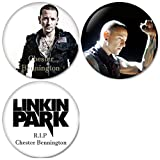 Chester Bennington : Set1 Pinback Buttons Badges/Pin 1.25 Inch (32mm) Set of 3 New