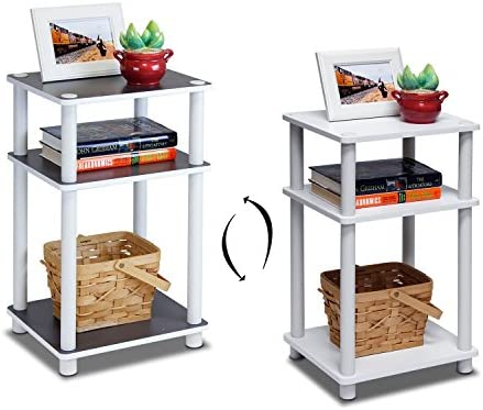 home, kitchen, furniture, living room furniture, tables,  end tables 5 discount FURINNO Just 3-Tier End Table, 1-Pack in USA