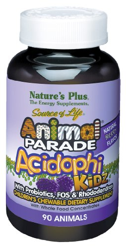 Nature's Plus - Acidophikidz - Berry, 90 chewable tablets