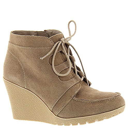 MIA Berdina Women's Boot Stone-Suede (6) (Mia Suede Wedges)