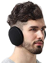 Ear Muffs for Men & Women - Winter Ear Warmers/Covers for Cold Weather - Behind The Head Style Black Fleece Earmuffs