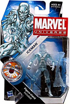 Marvel Universe 3 3/4 Inch Series 16 Action Figure #23 Iceman by Hasbro Toys (Marvel Universe X Men compare prices)