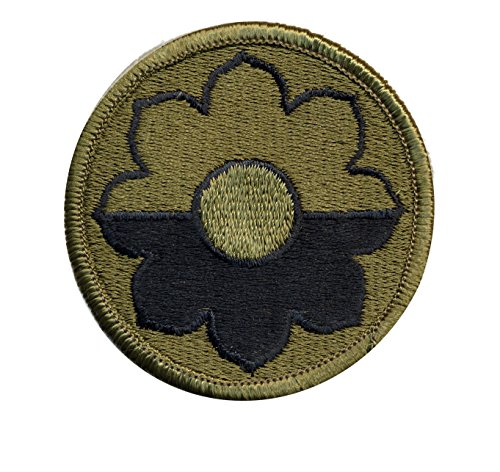 Original 9th Infantry Division OD shoulder patch (Shoulder Sleeve Insignia) - WWII - Vietnam - Ft Lewis - dated - Wwii Patches Army