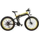T750Plus 27 Velocidades 1000W/500W Bicicleta Eléctrica Plegable Ciclismo 26 * 4.0 Bicicleta Gorda Disco