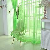 YanHoo 1 PCS Pure Color Tulle Door Window Curtain Drape Panel Sheer Scarf Valances (C)
