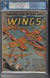 Wings Comics 12 PGX 3.0 P38 Fighters on Cover 1941