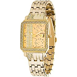 Moog Paris - G.T. - Women / Men Watch with gold dial, gold strap in stainless steel - - Made in France - M44974-002