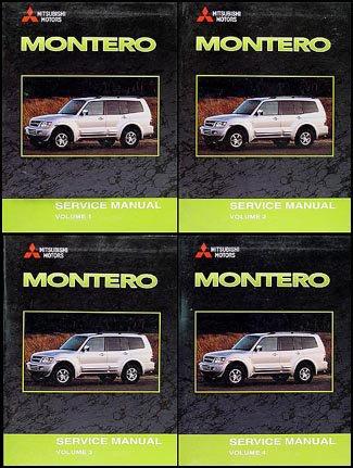(2001 Mitsubishi Montero Repair Shop Manual Set)