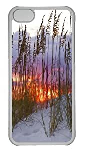 iPhone 5C Case and Cover -Beach Sunsets PC Case Cover for iPhone 5C and iPhone 5C Transparent