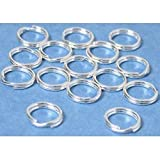 15 Sterling Silver Split Rings Charm Bead Parts 7.5mm Reviews